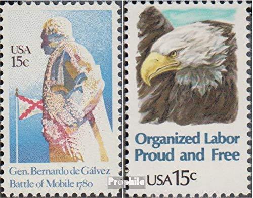 Prophila Collection USA 1433,1438 (kompl.Ausg.) 1980 Schlacht von Mobile, Arbeit (Briefmarken für Sammler) Vögel