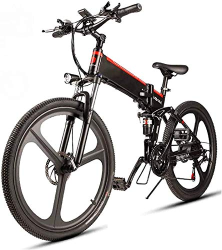Bicicleta Eléctrica Plegable Bicicleta eléctrica de nieve, 26 '' E-bike Electric Bicycle...