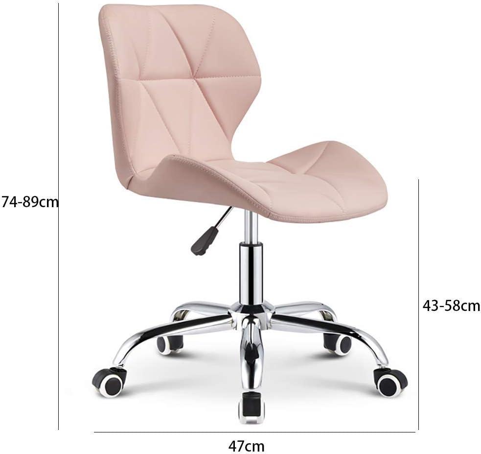 NUBAOzy Coiffeur Spa Poulie Tabouret Salon de beauté Tabouret 360 ° Rotating Haut et Bas Chaise de Levage Tabouret Armure Tabouret, Rose (Color : White) Pink