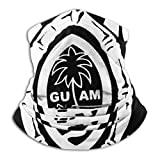Guam Seal in A Tribal Turtle Seamless Face Mask Bandanas for Dust, Outdoors, Festivals, Sports Neck Gaiter Warmer Face Mask