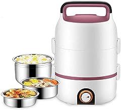 Xiaoyue Personal eléctrico Fiambrera, multifunción Cocina eléctrica sartén Wok eléctrico Olla Caliente for cocinar el arroz Frito Fideos Guiso lalay