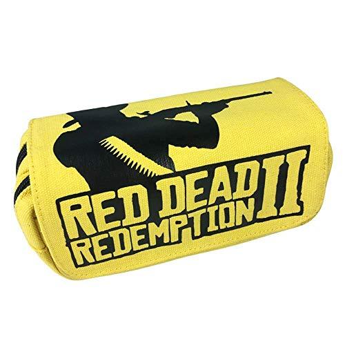 Re'd Dead Re'demption Zipper Pencil case Stationery Bag School Pen Bag Makeup Case Coin Purse LATT LIV
