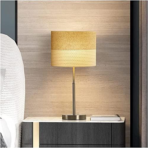 Lámpara de mesa Noche Noche Lámpara de mesa Dimmable Lámparas de escritorio clásicas con tela de sombra Mesa caliente Control remoto para niños Lámpara de noche romántica (Color: B)-B