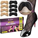 Anti-slip Heel Grips, Heel Protectors for Men and Women [Dotted Design with Strong Adhesive Backing] Shoe Heel Inserts, Add Extra Volume and Comfort, Heel Pain Relief, Ergonomic Heel Cushion for Shoes