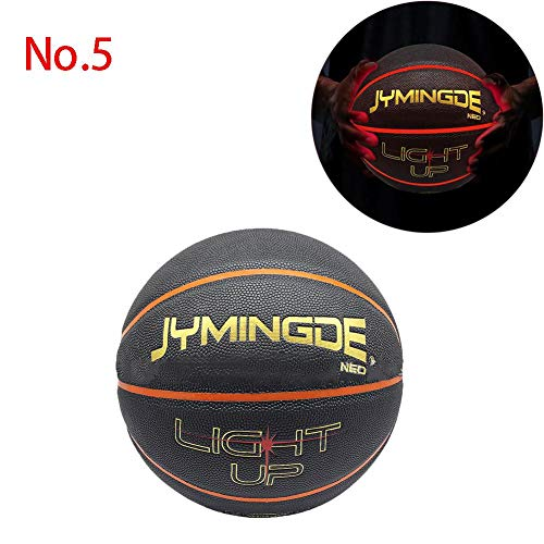 Sale!! CHERRYSONG Light Up Basketball Number 7/5 with Two High Bright LED Lights,Glowing Basketball,...