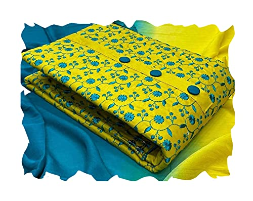 HMP Fashion Women's Slub Cotton Embroidery Unstiched salwar suit Dress Material free size