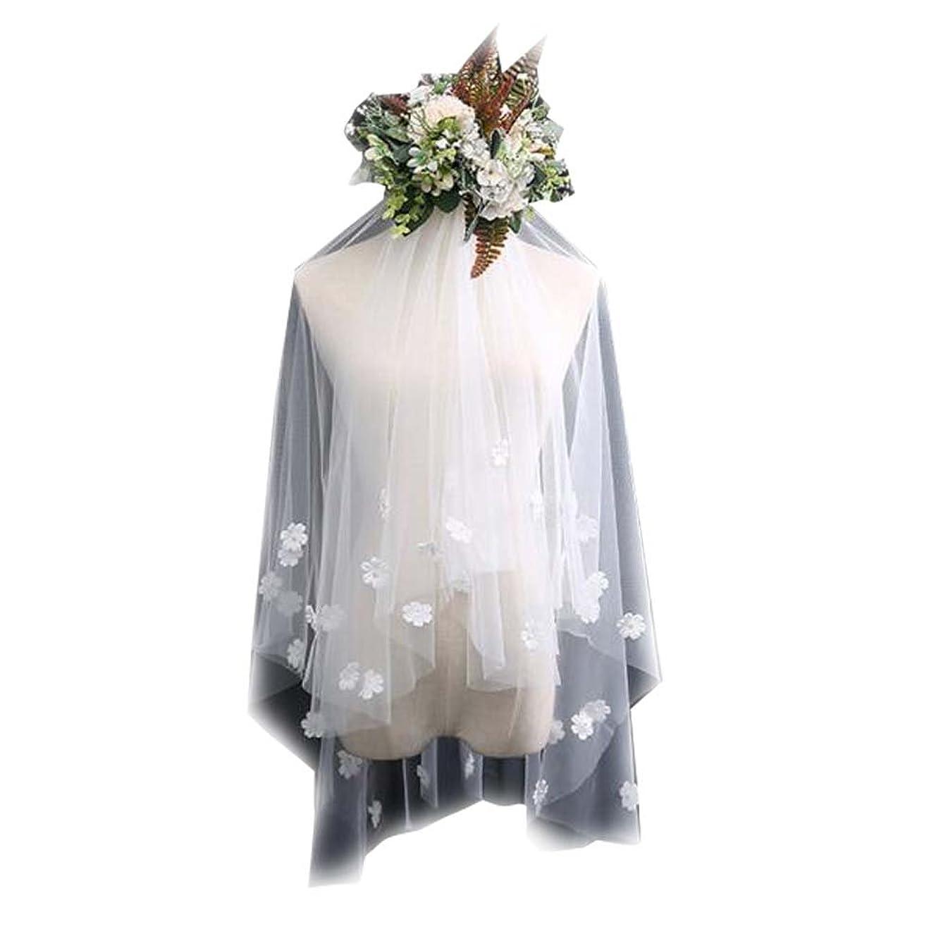 感染する神経障害カメラレースアップリケ#2でエレガントな結婚式のブライダルベール白のブライダルベール