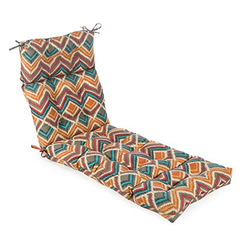 Greendale Home Fashions AZ4804-SURREAL Aztec 74 x 22-inch Outdoor Chaise Lounge Cushion