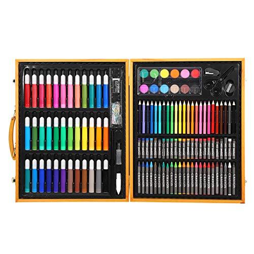 DERCLIVE Juego de 150 lápices de colores para niños de 12 colores, lápiz de pintura en polvo, herramienta de dibujo, color marrón claro