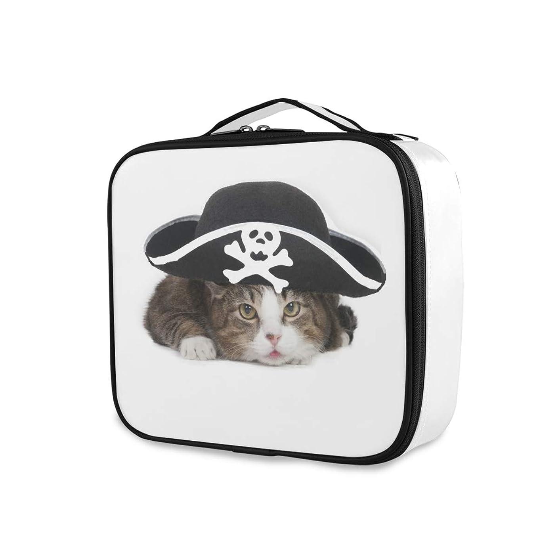 チェス利得なのでChovy メイクボックス 大容量 機能的 化粧ポーチ ネコ 猫 猫柄 クール 個性 かわいい 可愛い おもしろ メイクケース 防水 コスメボックス メイクポーチ 仕切り 小物整理 ブラシ入れ付き プロ用 化粧品収納 バッグ 旅行