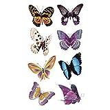 Wyuen 5fogli farfalla donne corpo tatuaggio adesivo per uomini falso impermeabile tatuaggio temporaneo nuovo design Body art 9.8x 6cm a-075