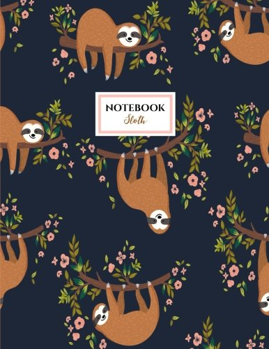 Price comparison product image Sloth Notebook: Sloths Notebook (Composition Book Journal) (8.5 x 11 Large)