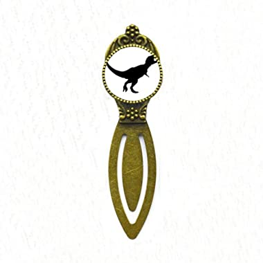 Dinosaur Black Bones Bone Bookmark Retro Office Label Page Marker