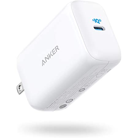 Anker PowerPort III 65W Pod (PD 充電器 USB-C) 【PPS規格対応/PD対応/PowerIQ 3.0 (Gen2) 搭載/PSE技術基準適合/折りたたみ式プラグ】MacBook Pro MacBook Air iPad Pro iPhone Galaxy Android各種 その他USB-C機器対応 (ホワイト)