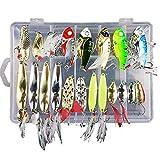 CHSEEO 21PCS Cebo de Pesca Señuelos de Pesca con Ganchos Cebos Artificial Swimbait Manivela Cebo Cucharillas Pesca Accesorios Aparejos De Pesca para la Pesca #4