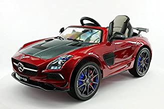 12V Mercedes SLS AMG Battery Power Ride On Kids Toy Car LED Wheels MP4 Player with Remote Control (Cherry red)