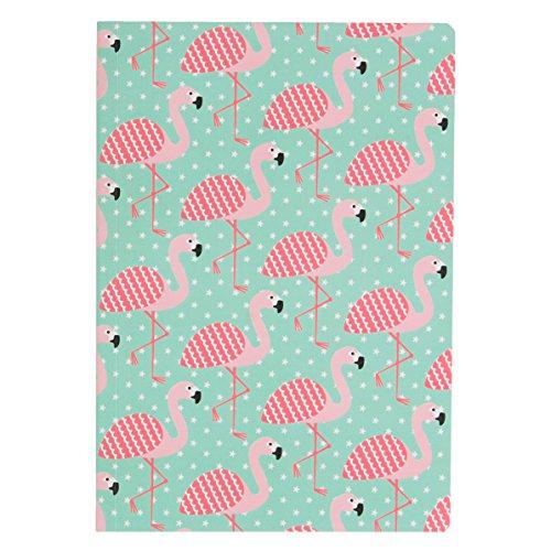 Pink Flamingo A5 Green Notebook Notepad Journal Scrap Book Stars Sass & Belle