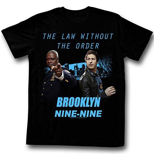 Brooklyn Nine-Nine - T-Shirt - Manches Courtes - Opaque - Homme Noir Noir - Noir - XX-Large