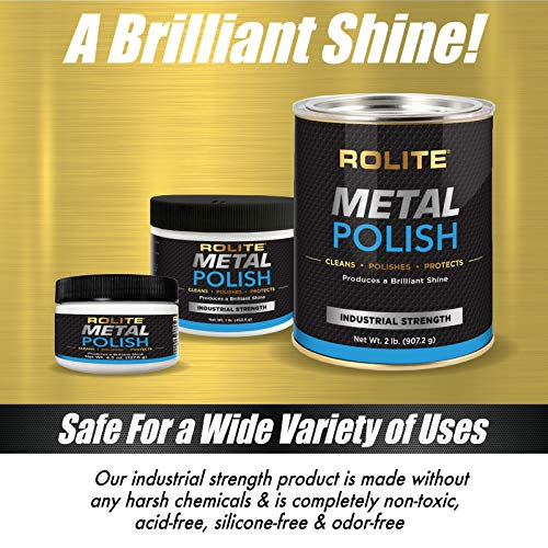 Product Image 1: Rolite – RMP1# Metal Polish Paste – Industrial Strength Scratch Remover and Cleaner, Polishing Cream for Aluminum, Chrome, Stainless Steel and Other Metals, Non-Toxic Formula, 1 Pound, 1 Pack