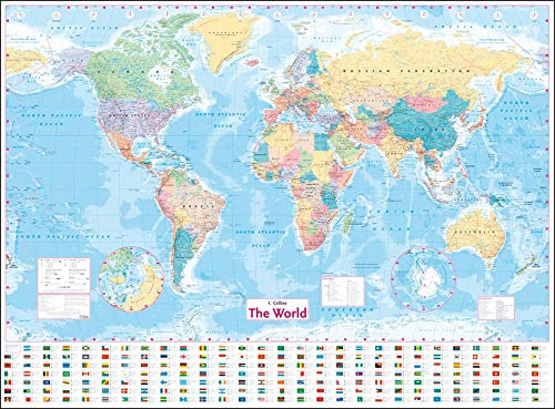 Coll World Wall Laminated Front Only Map