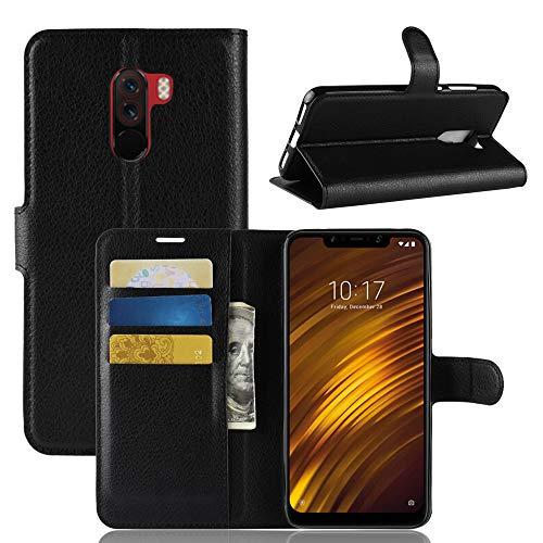 Capa Capinha Carteira Flip Wallet Case 360 Xiaomi Pocophone F1 Tela 6.18Couro Sintético Pronta Entrega (Preta)
