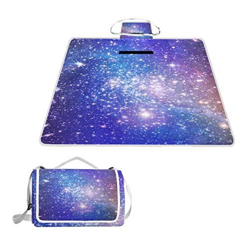 TIZORAX Couverture de Pique-Nique étanche et Pliable Motif étoiles Galaxies