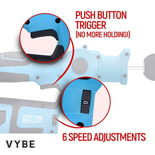 Exerscribe Personal Percussion Massage Gun - VYBE Handheld Deep Muscle Massager