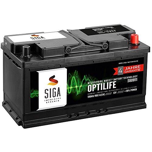 SIGA OPTILIFE Autobatterie 12V 100Ah **4 JAHRE GARANTIE** statt 88Ah 90Ah 92Ah 95Ah