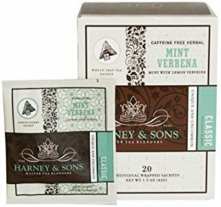 Harney and Sons Mint Verbena, Caffeine-Free Herbal 20 Sachets per Box by Harney and Sons [Foods]