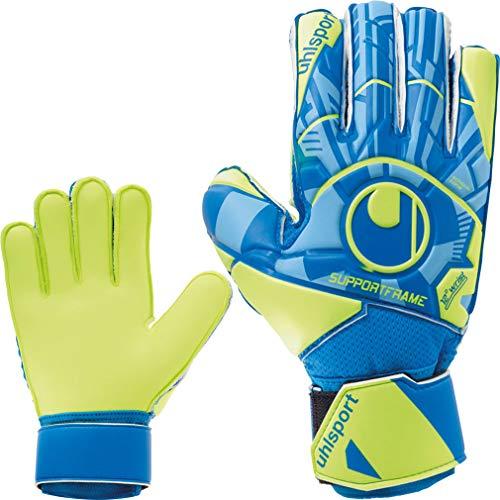 uhlsport Torwarthandschuhe mit Fingerschutz Fingersave + Handschuhreiniger (7)