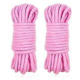 2 Pcs Soft Rope 32 Feet/10m Rope Craft Rope Multipurpose Rope (Pink+Pink)