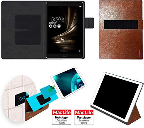 reboon Hülle für Asus Zenpad 3S 10 Z500KL Tasche Cover Case Bumper | in Braun Leder | Testsieger