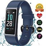 KUNGIX Montre Connectée, Fitness Tracker étanche IP68 avec écran Tactile Couleur de 0,96 Pouces, Moniteur de Fréquence Cardiaque Podomètre Tracker d'activité Calorie avec GPS Connecté Homme Femme