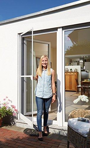 Schellenberg 70050 Insektenschutz Tür Plus, Fliegengitter Tür mit Rahmen aus Aluminium, 100 x 210 cm
