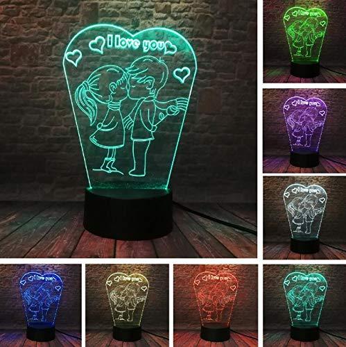 Globos de corazón con texto en inglés 'I Love You', LED 3D, 7 colores, cambio de luz romántica, decoración de boda, regalo de juguete, 7 colores, estilo 5