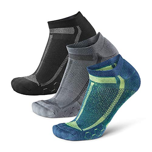 DANISH ENDURANCE Long Distance Low-Cut Running Socks for Men & Women (Multicolor...