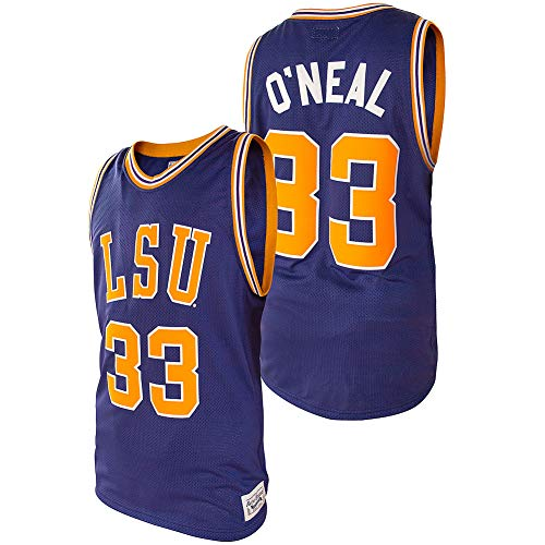 Elite Fan Shop Shaquille O'Neal Retro LSU Tigers Basketball Jersey - Medium - Shaquille O'Neal Purple