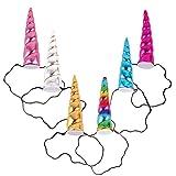 JMITHA Licorne Corne Bandeau Cheveux Cosplay Costume pour Anniversaire Célébration Party Festivals Licorne bandeau princesse élastique bandeau (04)