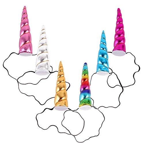 JMITHA Haarreif Einhorn Elastisch Einhorn Blumenmädchen Haarschmuck Verkleiden für Hochzeit Party Karneval Head Accessoires (6 Stück)