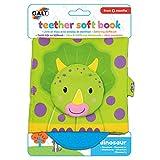 Galt Toys 1005275 Galt Teether Soft Book-Dinosaur, Multi