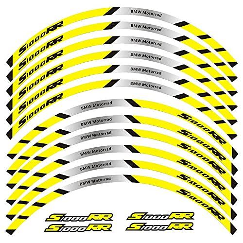 Pegatinas para motocicleta, pegatinas reflectantes para ruedas, adecuadas para decoración de etiquetas S1000RR (color 6)