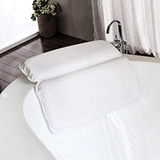 YXHMdd Bathtub Pillow with 7 Suction Cups, Head Neck Back and Shoulder Support Bath Pillows, for Hot Tub Jacuzzi Home Spa