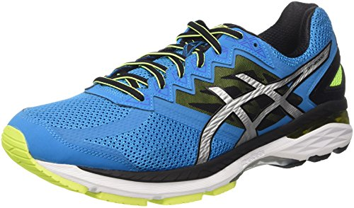 Asics GT-2000 4, Zapatillas de Running para Hombre, Azul (Blue Jewel/Black/Safety Yellow), 42 EU