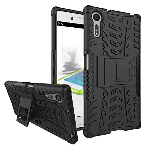 Jielangxin Funda para Sony Xperia XZ,Teléfono con Soporte a Prueba de Golpes Funda para Sony Xperia XZ F8331 F8332 Carcasa Case Funda Black