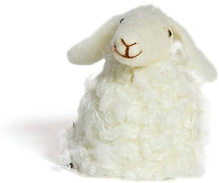 Preisvergleich für Eierwärmer Aufsteller Schaf weiss Filz Deko Tischdeko Ostern