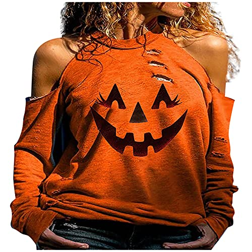Women Halloween Halter Tunic Tops, Trendy Off Shoulder Blouse Plus...