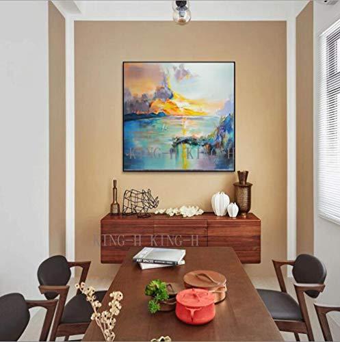 mmzki Cartoon Anime Ölgemälde Handmesser Malerei abstrakte Malerei Ölgemälde dekorative Haushalt Moderne Mode Stil der Hotellobby Sofa Sofa-50x50CM_kingh2