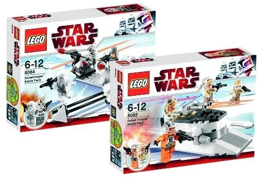 LEGO Star Wars 8083 Rebel Trooper Battle Pack und 8084 Snowtrooper Battle Pack