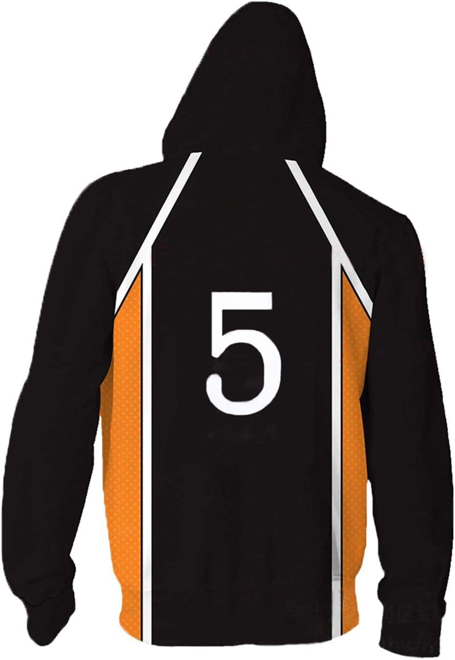 Sawamura Daichi No.1 Hoodie Jacke Karasuno Kageyama Cosplay Kost/üm Kapuzenpullover Pullover Sweatshirt High School Mantel