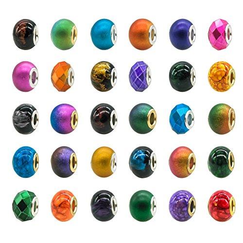 TOAOB - Espaciadores para pulseras, cuentas y abalorios de color mezclado de...